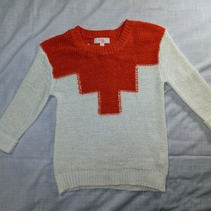 GB Kids Orange and White Winter Sweater size small